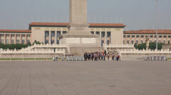 People walking in tiananmen square china Stock Footage