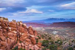 fiery furnace overlook arches national park - stock photo