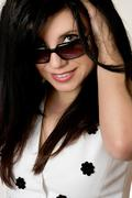 Beautiful Woman Fashion Sunglasses Stock Photos