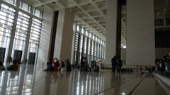 4k Ultra HD time lapse video of National Museum of China foyer(TL--N M 2) Stock Footage