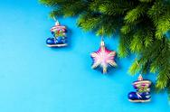Stock Photo of Fir tree and christmas decoration