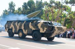 BAKU - 26 June 2011 - Miliatary Parade in Baku, Azerbaijan on Ar Stock Photos