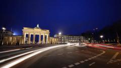 Berlin - 4K Timelapse of Brandenburg Gate Stock Footage