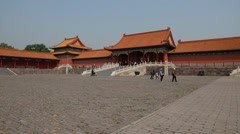 Inside the forbidden city palace in beijing china Stock Footage