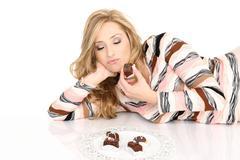 Chocolate Addict - stock photo