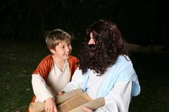 Learning the scriptures Stock Photos