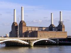 London Battersea powerstation - stock photo