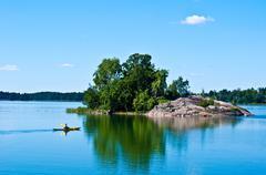Suomalainen maisema Kuvituskuvat