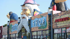 Wizard figure store sign on gift shop in Orlando Stock Footage