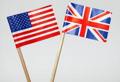 Stock Photo of British and American flags
