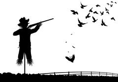 Stock Illustration of shotgun scarecrow