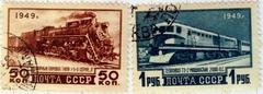 Stock Photo of USSR stamps