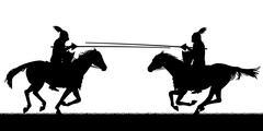 jousting - stock illustration