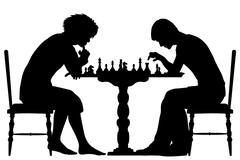 chess match - stock illustration