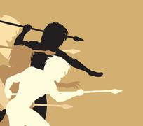 Spearmen Stock Illustration