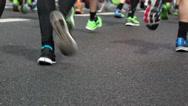 Stock Video Footage of Marathon runners