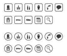 Funeral icons Stock Illustration
