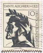 Dante picture - stock photo