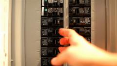 Fuse Box 02 HD Stock Footage