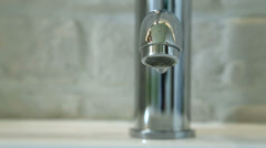 Dripping faucet - front view Stock Footage