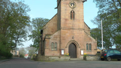 St Ebbas Church in Northumberland Stock Footage