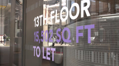 To Let/Real Estate Sign In Window Stock Footage