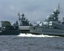 Naval parade in Baltysk (2003) - 08 Stock Footage