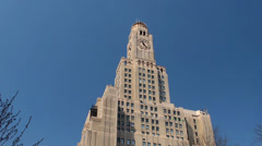Williamsburgh Savings Bank Tower at  Brooklyn, New York, USA. Stock Footage