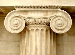 Ionic capital - stock photo
