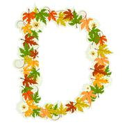 Stock Illustration of Pattern floral letter D