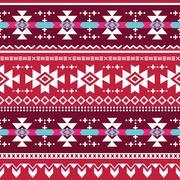 Tribal aztec vector seamless pattern - stock illustration