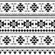 Stock Illustration of Tribal aztec vector retro seamless pattern on white