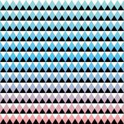 Tribal aztec ombre seamless pattern - stock illustration