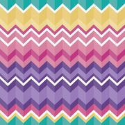 Tribal folk aztec seamless texture, pattern with zig zag Stock Illustration