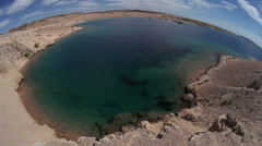 Fisheye on the blue bay of Ras Mohamed national park, Sharm El Sheikh, Egypt Stock Footage