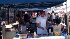 Brooklyn Flea Food Market 'Smorgasburg' Stock Footage