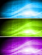 Set of vibrant banners - stock illustration