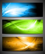 Stock Illustration of Set of vibrant banners
