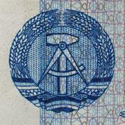 DDR banknote - stock photo