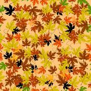 Leaves seamless - stock illustration