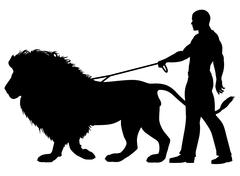lion walker - stock illustration