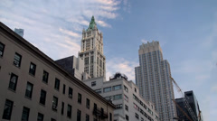 Woolworth Building at Manhattan. NYC, USA. Stock Footage