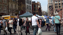 Union Square Greenmarket at Manhattan. NYC, New York, USA. Stock Footage