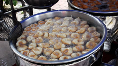 Cooking Lokma (Friedcake) Stock Footage