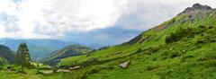 Beautiful nature of alps mountains Stock Photos