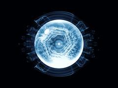 Conceptual Wave Particle - stock illustration