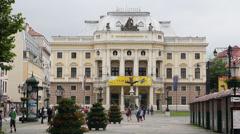 Bratislava: Slovak National Theater Stock Footage