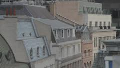 London City Roof Tops Stock Footage