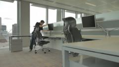Computer Being Fitted in New Office Stock Footage