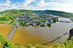 Flood in aussig in the czech republic Stock Photos